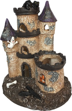FRF-306 CASTLE & TURRETS ORNAMENT 11 x 9 x 14cm