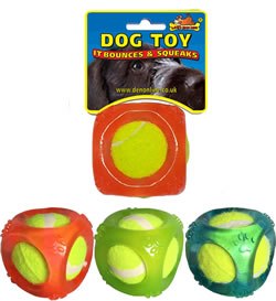 LB-360 RUBBER CUBE TOY & TENNIS BALL 1x12