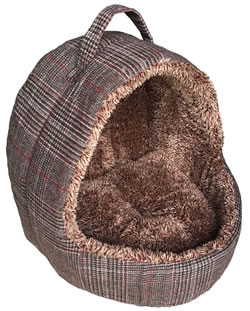 LB-392 HOODED CAT BED BROWN