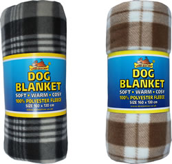LB-BL FLEECE DOG BLANKET 63 x 51.2""