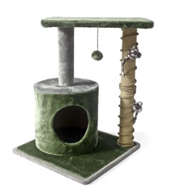 TM-503 CAT POST PLAY ZONE MADE W/SILVER VINE 56x64cm