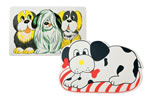 ALB-294D DOG PLACE MATS ASSORTED PRINTS